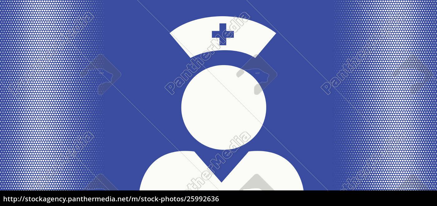 pictogram, of, a, nurse - 25992636
