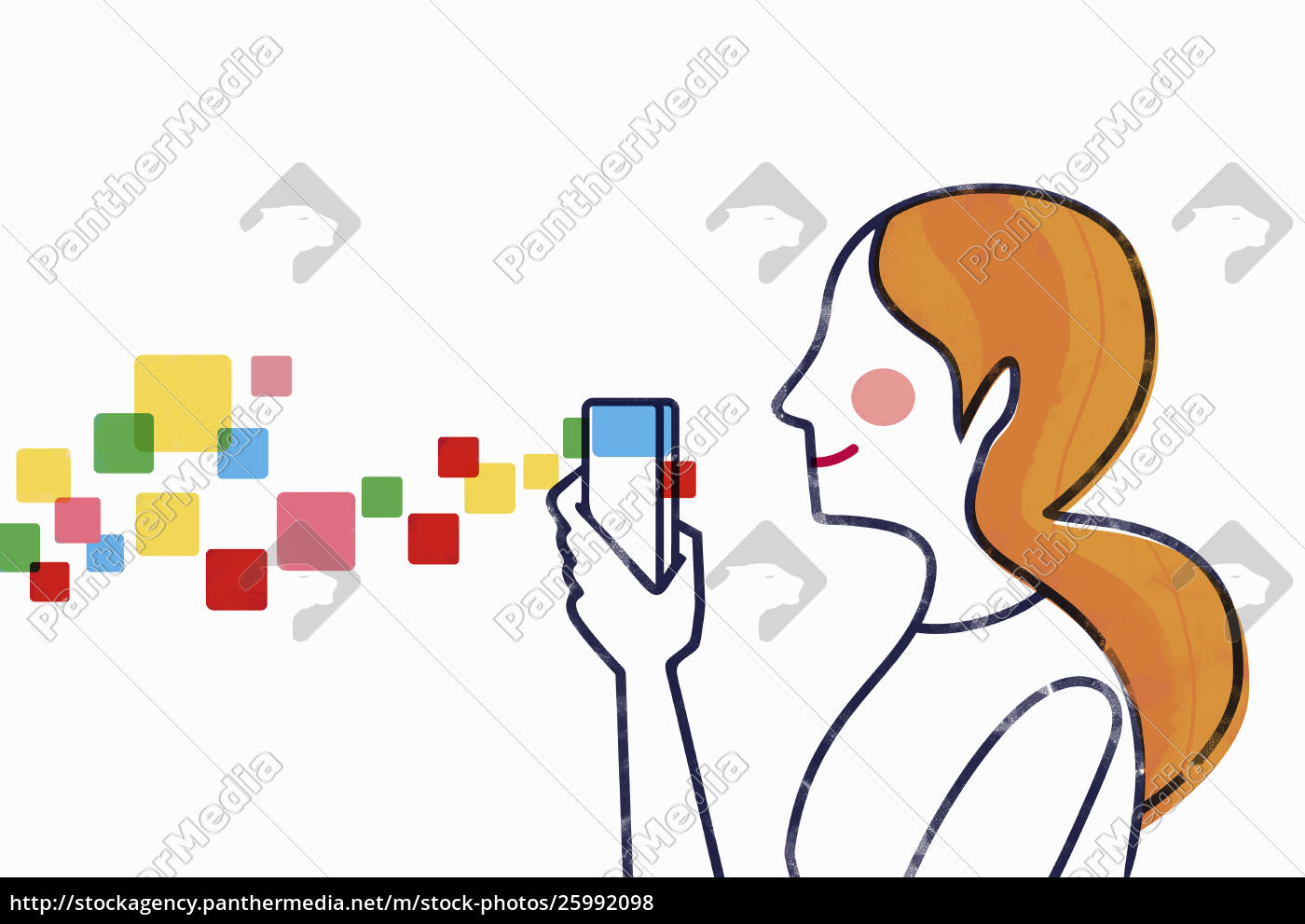 woman, using, mobile, device - 25992098