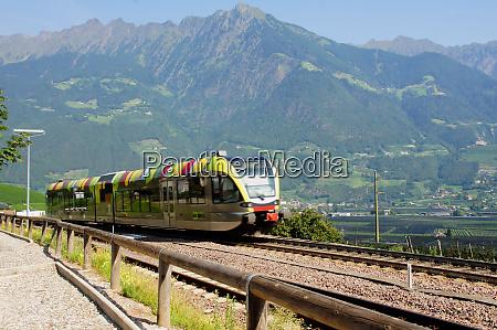 regional train in val venosta
