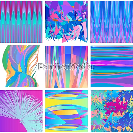 modern background abstract designs set