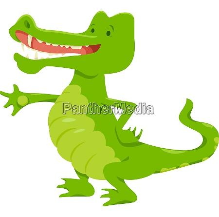 funny crocodile animal character
