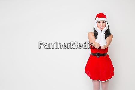 beautiful and cute girl dresses as