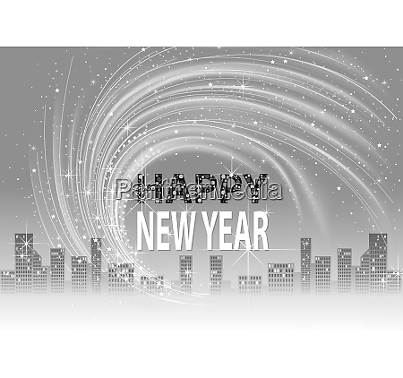 grayscale happy new year background