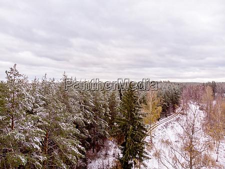 vinterlandschaft im norden europas