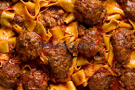 rustic italian meatball pappardelle pasta food