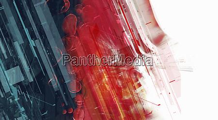 abstrakte montage von blauen und roten
