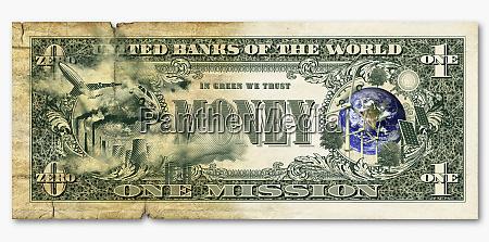 umweltbilder auf dollar schein