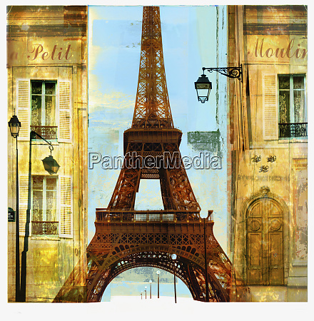 apartments and eiffel tower