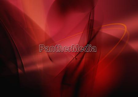 abstraktes bild von roten wirbelnden linien