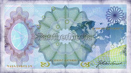 nahaufnahme der blauen banknote