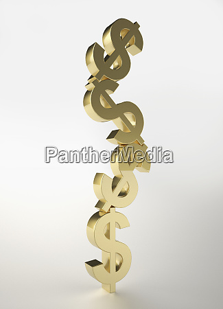 stacked gold dollar sign symbols