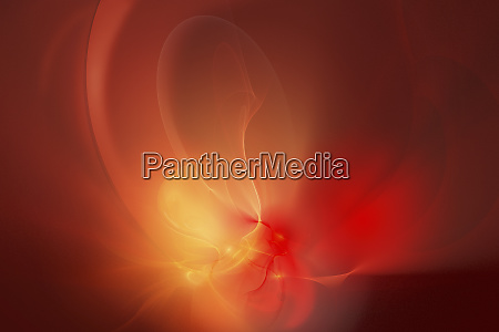 abstract glowing red swirls