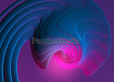 abstract digitally generated pattern with wavy