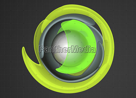 abstract concentric fluorescent shapes on graph