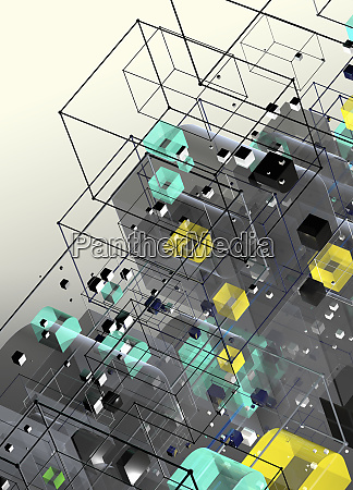 tilted abstract three dimensional geometric structure