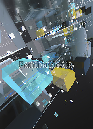 abstract three dimensional futuristic structure