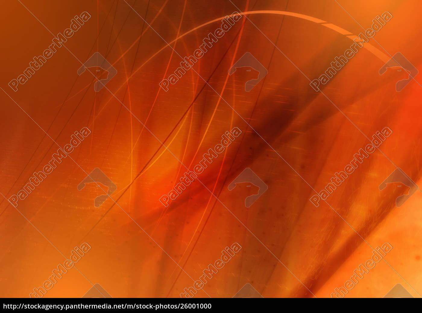 abstraktes, bild, von, orangefarbenen, wirbelnden, linien - 26001000