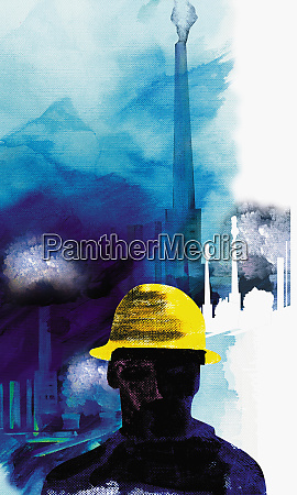 construction worker in hard hat with