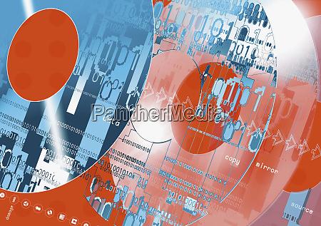 nahaufnahme von cds mit digitalen bildern