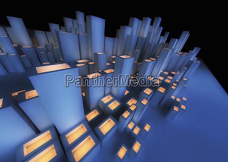 abstrakte futuristische stadtarchitektur