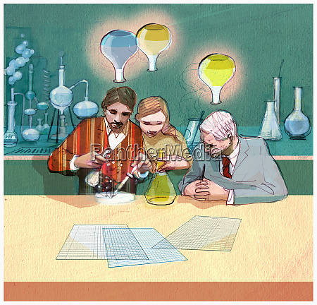 scientists working on experiments