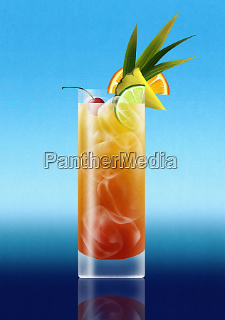 tropical rum punch cocktail getraenk