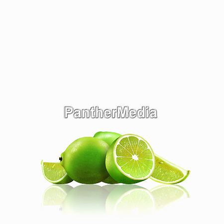whole and cut limes