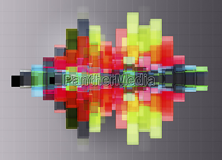 abstract bright multicolored geometric shapes contrasting
