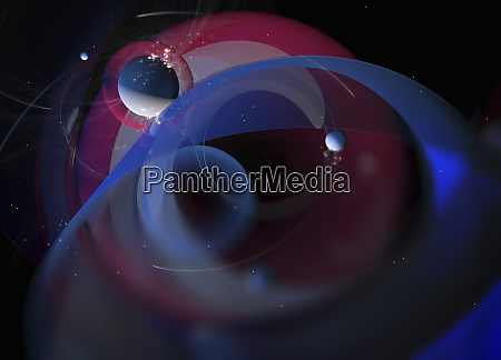 planets and stars in abstract backgrounds