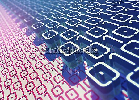 ebenen des binaeren codemusters