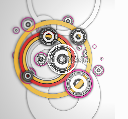 overlapping interconnected concentric circle pattern