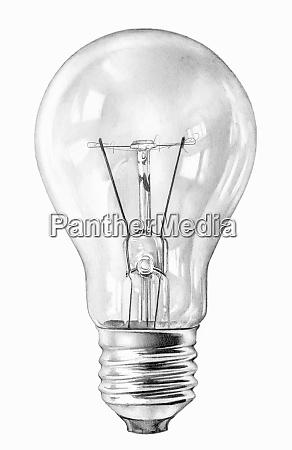 close up pencil drawing of filament