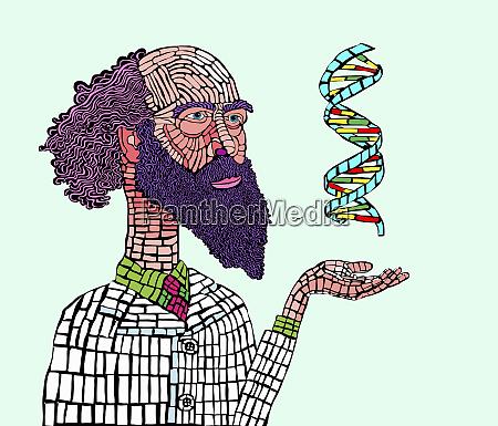 wissenschaftler untersuchen dna doppelhelix