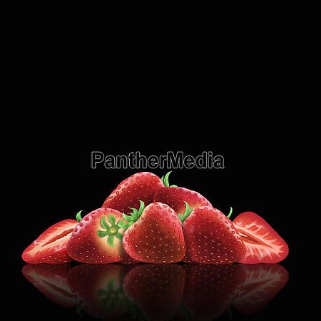 frische, erdbeeren, und, pferen - 26003070