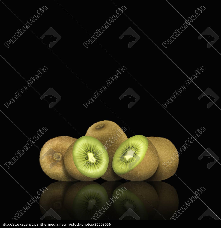 ganze, und, geschnittene, kiwi-früchte - 26003056