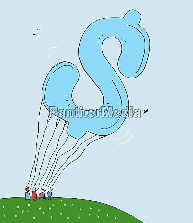 grosser dollar schilderballon