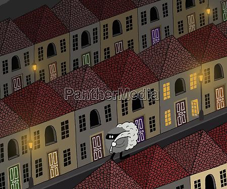 einbrecher tragen tasche in der nacht