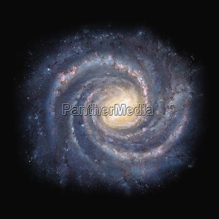 wirbelnde galaxie im weltraum