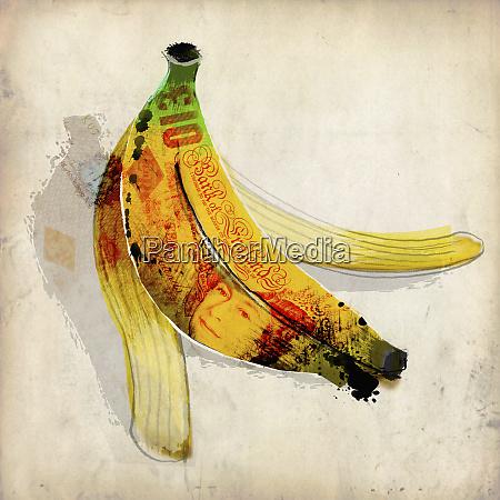zehn pfund note bananenschale