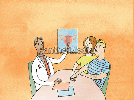 doctor explaining fertility problem to anxious
