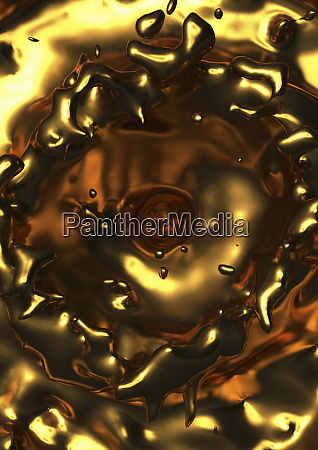 close up of molten gold rippling
