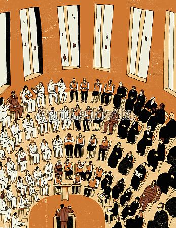 people meeting in auditorium