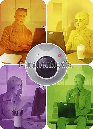 geschaeftsleute videokonferenzen