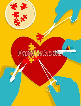 stem cell jigsaw puzzle pieces mending