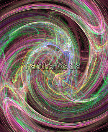 swirling light trail abstract pattern