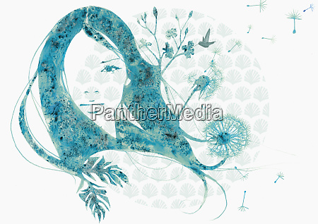 woman and flower design