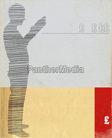 silhouette of man reading with pound