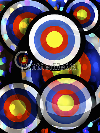 abstract pattern of overlapping bright color