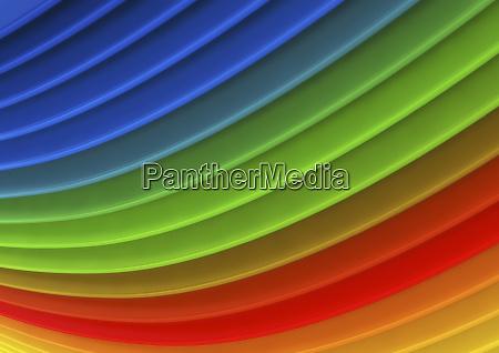 abstrakte hintergruende aus mehrfarbigen geschwungenen streifen