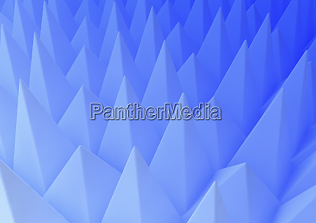 abstract backgrounds pattern of blue pyramid